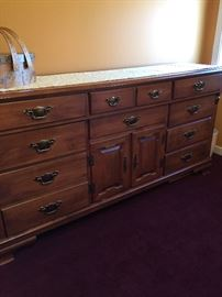 BEDROOM MAPLE TRIPLE DRESSER