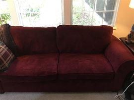 Cranberry contemporary sofa