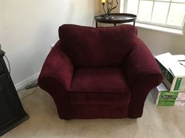 Cranberry oversized chair