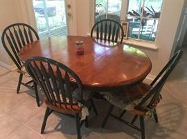 Country style table and 4 matching chairs