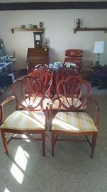 Drexel set of 8 chairs