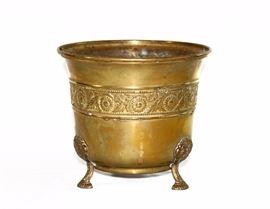Antique Brass Jardiniere Planter