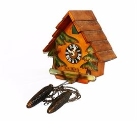 GERMANY CARVED WOOD BLACK FOREST CUCKOO CLOCK