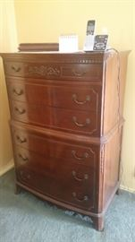 Antique - Tall boy chest of drawers $250