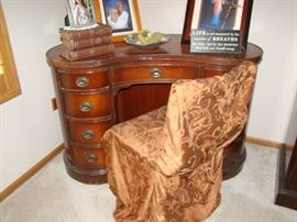 kidney shape desk with chair