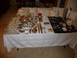 STERLING SILVER & COSTUME JEWELRY