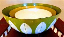 Danish Modern enamelware mixing bowls
