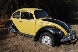 005 - 1972 Volkswagen Beetle, black and yellow body, running and drivable condition