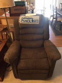 Heated massage power lift chair