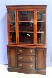 "China Hutch and Buffet, Dovetail Constructed Drawers, 42"" x 71"" x 16"""