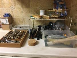 gorham flatware set -& more kit items--SOLD FLATWARE