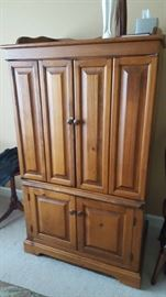 Large wood armoire  (can be converted to a bar!)   $75  Buy ahead