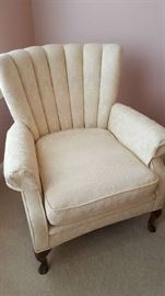 Crème wingback chair   $45   Buy ahead