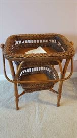 Wicker tier table   $40