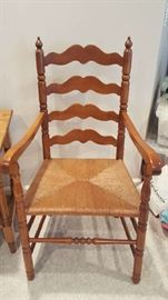 Ladder back chair with arms   $45