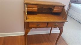 "Oak secretary   $150  Buy ahead   34"" W"