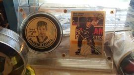 Atlanta Knights hockey Chris Li Puma autographed Puck and card