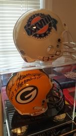 Bart Starr Green Bay Packers Super Bowl 1 & 2 autographed helmet