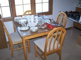DINETTE SET & GLASS & DISHES