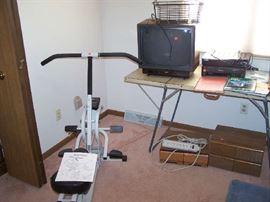 EXERCISE BIKE, OLDER TV & MISC.