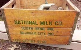Nation Milk Co Wood Crate