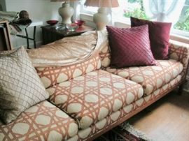 Custom made 8' sofa with Japanese Sen wood