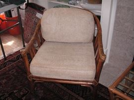 McGuire bamboo chair with leather thong ties, all original, 1 of 2