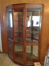 Vintage curio cabinet.  $250