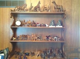 A large horse collection....all shapes and sizes....from around the world.