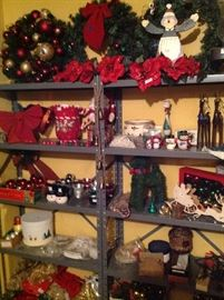Lots of Xmas decorations