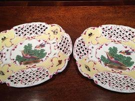 Matching pair of decorative plates.