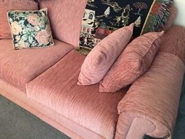 Pink Upholstered Sofa Bed