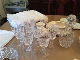 Waterford crystal Rosslare stemware & Waterford decanter
