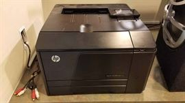 Assorted HP color and black and white laser printers, copiers, scanners, faxes