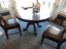 Round table 42 inch 2 chairs