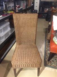 Wicker desk chair