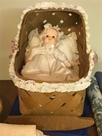 Doll and basket