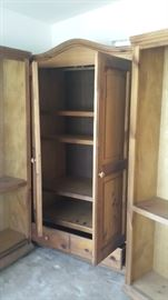 Armoire w/ two bookshelves