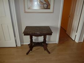 Antique Marble top table, heavy and beautiful.