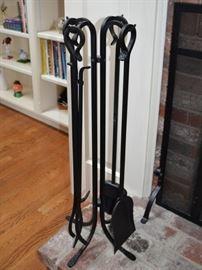 Iron fireplace tools
