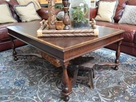 Banded coffee table