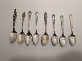 8 sterling silver spoons