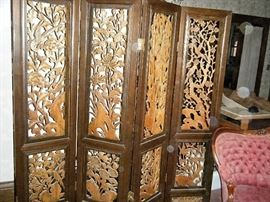 ALL HAND CARVED SCREEN