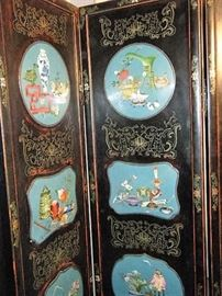 CLOISONNE SCREEN 19TH CENTURY