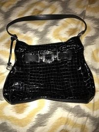 BRIGHTON PATENT LEATHER HANDBAG