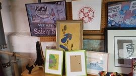 Wall Hangings and frames.  $5 to $25