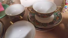 Rosenthale selb-bavaria pattern 2110. 1920s. 3 Consomme bowls, 4 saucers.  7 pc set for $25