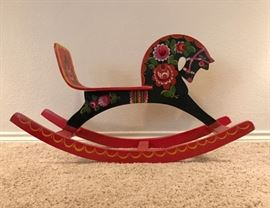"Hand Painted Russian 'Hobby Horse'  (36"" long x 20"" high) 90.00"