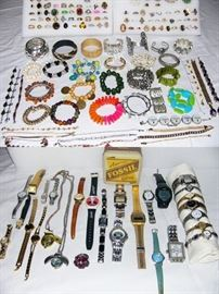 COSTUME JEWELRY AND WATCHES