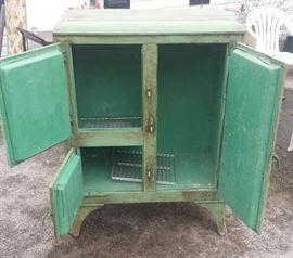Vintage ice box open